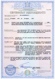 сертификат соотвествия счетчиков Gross